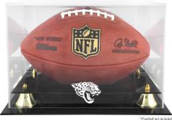 Jacksonville Jaguars Golden Classic Football Display Case with Mirror Back - Mounted Memories