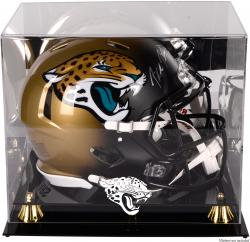 Jacksonville Jaguars Golden Classic Helmet Display Case with Mirror Back