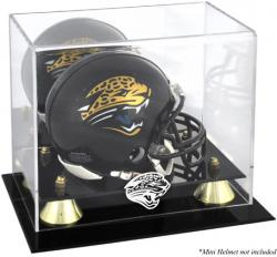Jacksonville Jaguars Mini Helmet Display Case - Mounted Memories