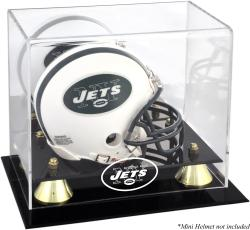 New York Jets Mini Helmet Display Case - Mounted Memories