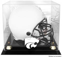Kansas State Wildcats Golden Classic Logo Helmet Display Case with Mirrored Back - Mounted Memories