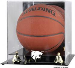 Kansas State Wildcats Golden Classic Logo Basketball Display Case with Mirror Back