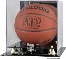 Sacramento Kings Golden Classic Team Logo Basketball Display Case - Mounted Memories