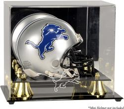 Detroit Lions Mini Helmet Display Case - Mounted Memories