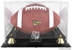 LSU Tigers Golden Classic Logo Football Display Case with Mirror Back - Mounted Memories