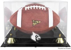 Louisville Cardinals Golden Classic Logo Football Display Case with Mirror Back - Mounted Memories