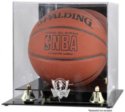 Dallas Mavericks Golden Classic Team Logo Basketball Display Case - Mounted Memories
