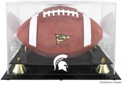 Michigan State Spartans Golden Classic Logo Football Display Case with Mirror Back - Mounted Memories