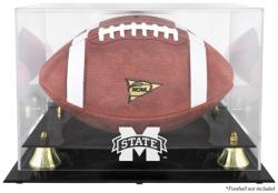 Mississippi State Bulldogs Golden Classic Logo Football Display Case with Mirror Back
