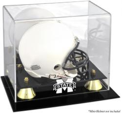 Mississippi State Bulldogs Golden Classic Logo Mini Helmet Display Case