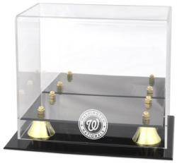 Washington Nationals Golden Classic Logo Mini Helmet Case - Mounted Memories