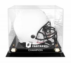 NFL MVP Golden Classic Helmet Logo Display Case with Mirror Back