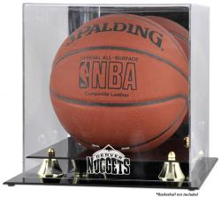 Denver Nuggets Golden Classic Team Logo Basketball Display Case - Mounted Memories