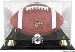 Ohio State Buckeyes Golden Classic Logo Football Display Case with Mirror Back - Mounted Memories