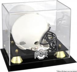 Ohio State Buckeyes Golden Classic Logo Mini Helmet Display Case