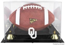 Oklahoma Sooners Golden Classic Logo Football Display Case with Mirror Back - Mounted Memories