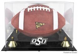Oklahoma State Cowboys Golden Classic Logo Football Display Case with Mirror Back - Mounted Memories