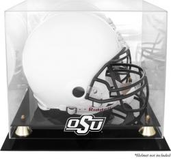 Oklahoma State Cowboys Golden Classic Logo Helmet Display Case with Mirrored Back