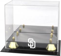 San Diego Padres Golden Classic Logo Mini Helmet Case - Mounted Memories
