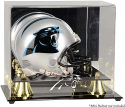 Carolina Panthers Mini Helmet Display Case - Mounted Memories