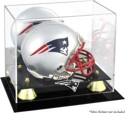 New England Patriots Mini Helmet Display Case - Mounted Memories