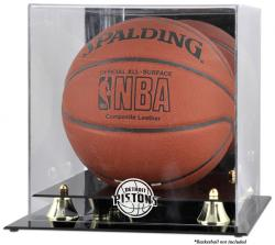 Detroit Pistons Golden Classic Team Logo Basketball Display Case
