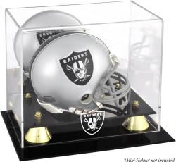 Oakland Raiders Mini Helmet Display Case - Mounted Memories