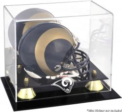 St. Louis Rams Mini Helmet Display Case - Mounted Memories