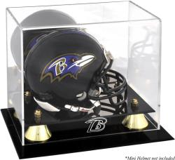 Baltimore Ravens Mini Helmet Display Case - Mounted Memories