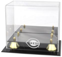 Cincinnati Reds Golden Classic Logo Mini Helmet Case - Mounted Memories