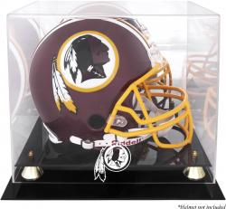 Washington Redskins Golden Classic Helmet Logo Display Case with Mirror Back - Mounted Memories