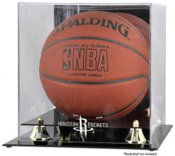 Houston Rockets Golden Classic Team Logo Basketball Display Case
