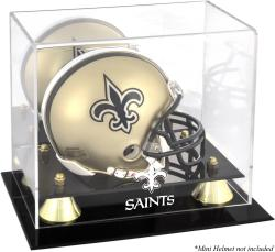 New Orleans Saints Mini Helmet Display Case - Mounted Memories