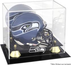 Seattle Seahawks Mini Helmet Display Case - Mounted Memories