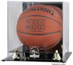 Philadelphia 76ers Golden Classic Team Logo Basketball Display Case