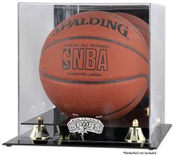 San Antonio Spurs Golden Classic Team Logo Basketball Display Case
