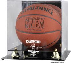 San Antonio Spurs 2014 NBA Finals Champions Golden Classic Basketball Display Case - Mounted Memories