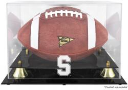 Stanford Cardinal Golden Classic Logo Football Display Case with Mirror Back