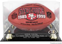 San Francisco 49ers Steve Young Hall of Fame Football Case - Mounted Memories