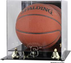 Syracuse Orange Golden Classic Logo Basketball Display Case with Mirror Back - Mounted Memories