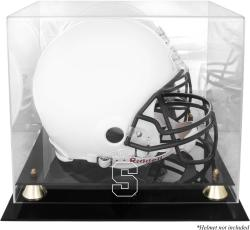 Syracuse Orange Golden Classic Logo Helmet Display Case with Mirrored Back