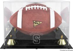 Syracuse Orange Golden Classic Logo Football Display Case with Mirror Back