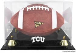 TCU Horned Frogs Golden Classic Football Display Case with Mirror Back - Mounted Memories