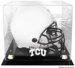 TCU Horned Frogs Golden Classic Logo Helmet Display Case with Mirror Back