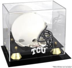 TCU Horned Frogs Golden Classic Logo Mini Helmet Display Case