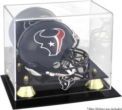 Houston Texans Golden Classic Mini Helmet Display Case - Mounted Memories