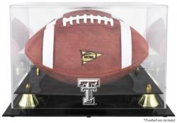 Texas Tech Red Raiders Golden Classic Team Logo Football Display Case with Mirror Back - Mounted Memories