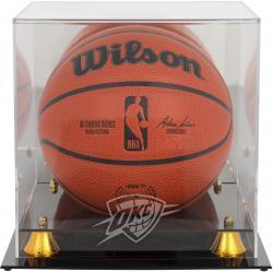 Oklahoma City Thunder Golden Classic Team Logo Basketball Display Case