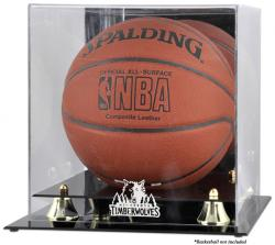 Minnesota Timberwolves Golden Classic Team Logo Basketball Display Case - Mounted Memories
