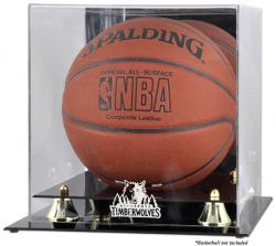 Minnesota Timberwolves Golden Classic Team Logo Basketball Display Case